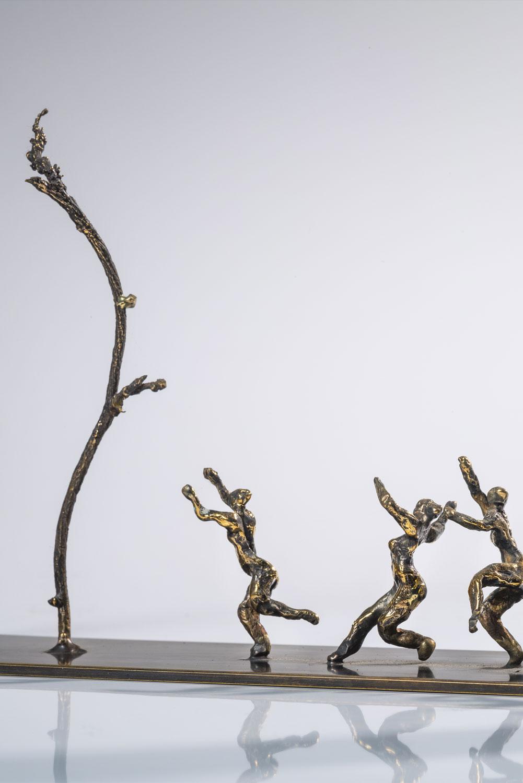 conte narration spéculative bronze sculpture art peuples histoire