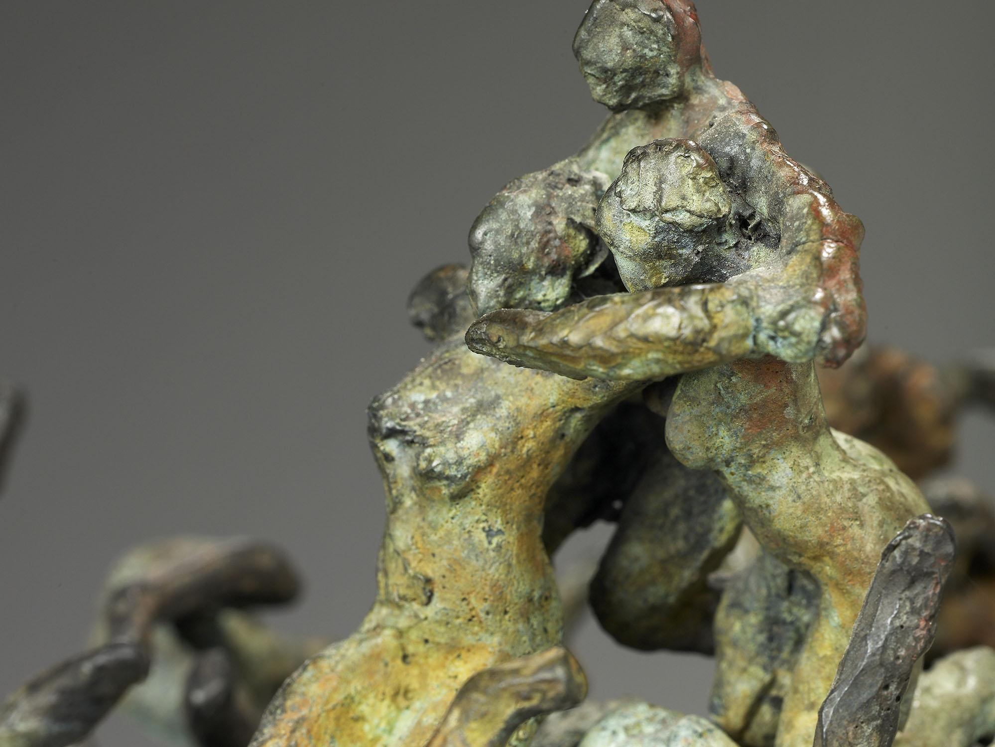 écologique désastre nature bronze sculpture art explosion culture