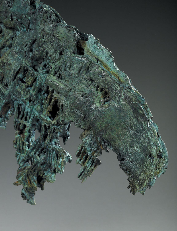 alien monstre crevette bronze sculpture art créature espace