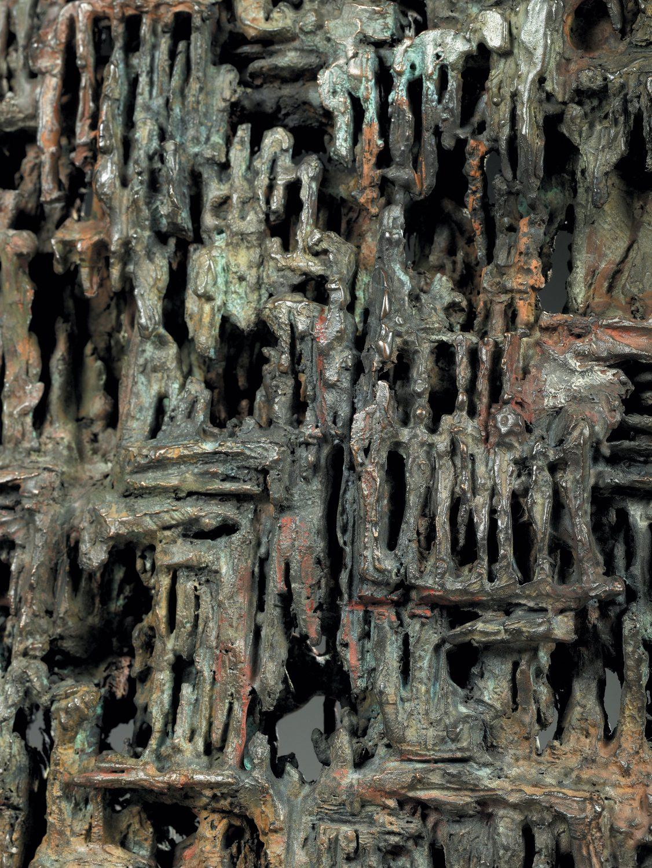 textile strates matière bronze sculpture art déchets décomposition