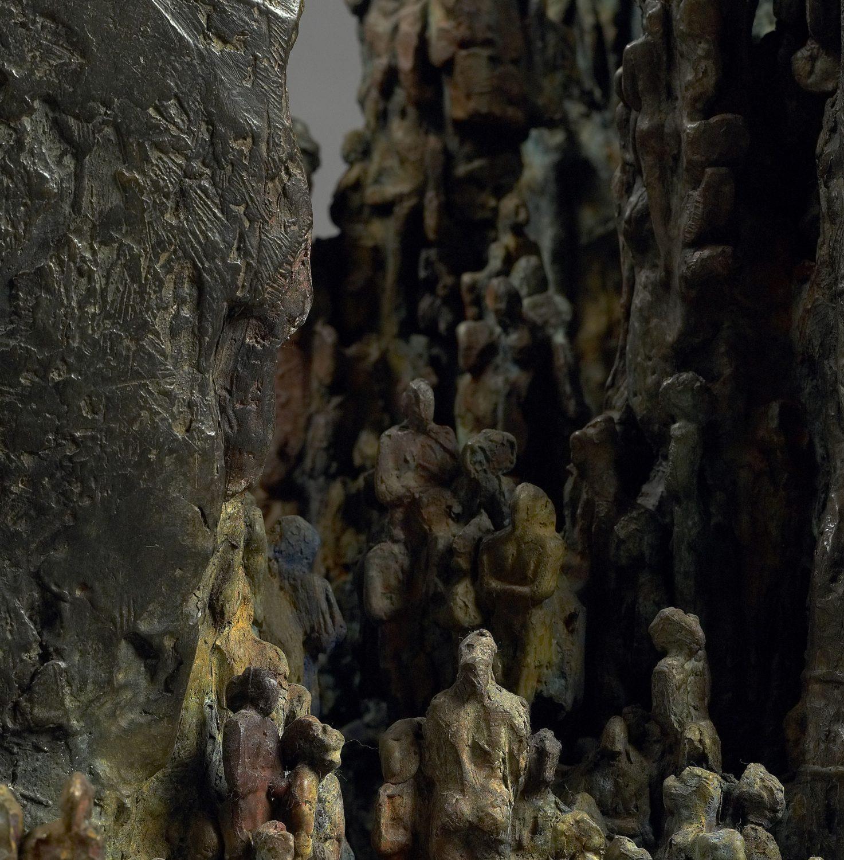 grotte hommes préhistorique bronze sculpture art sortir peuples
