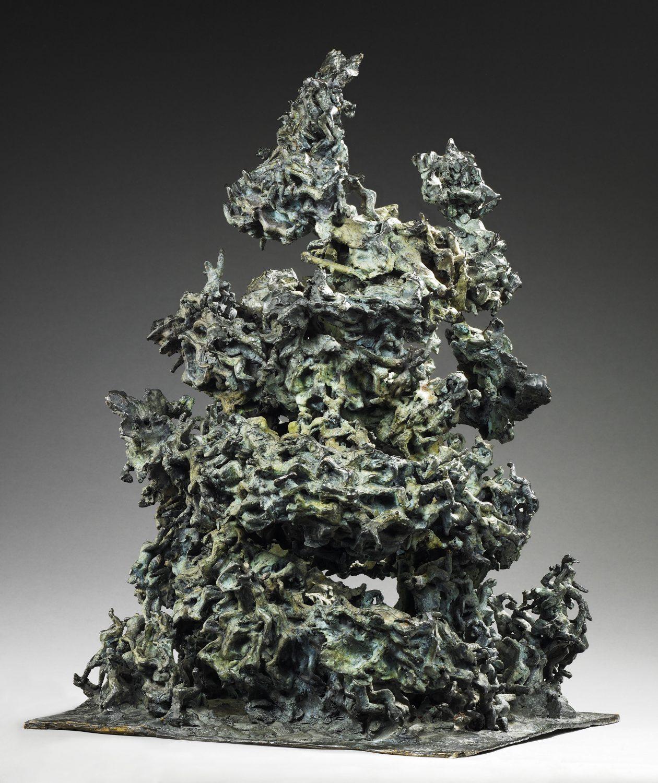 tornade écologie destruction bronze sculpture art mythe tourbillon