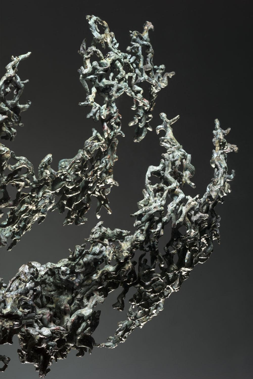 Rimbaud papillon voler bronze sculpture art polliniser vent