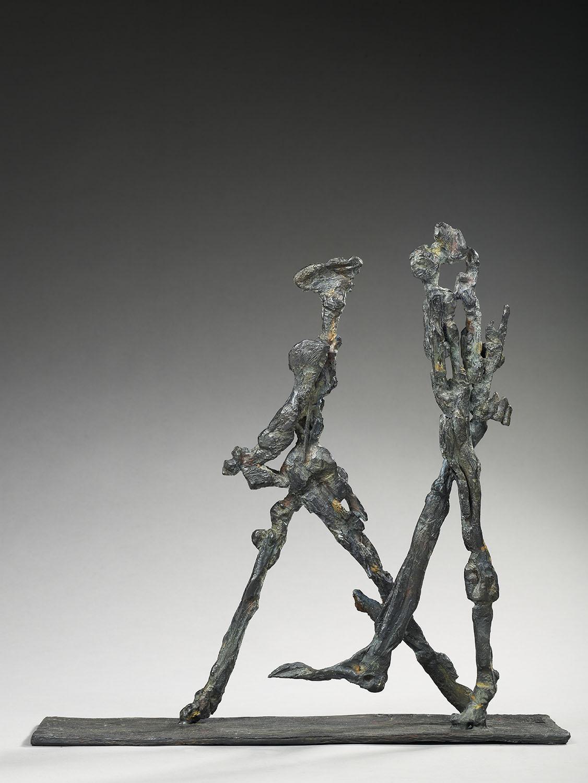 marcheur solitude poète bronze sculpture art humanité voyageur